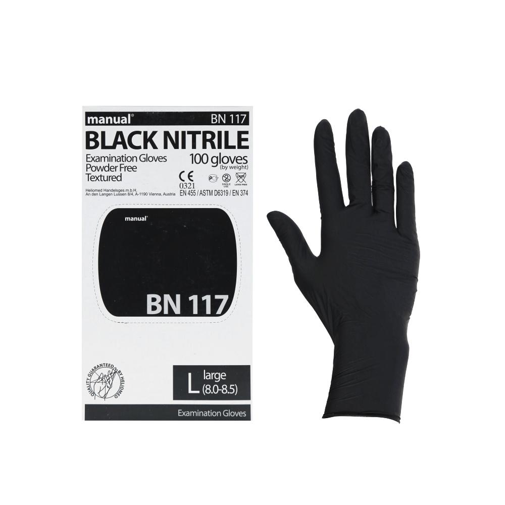 Перчатки смотровые нитриловые MANUAL BN117