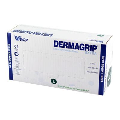 Перчатки латексныесмотровые неопудренные повышенной прочности DERMAGRIP EXTRA