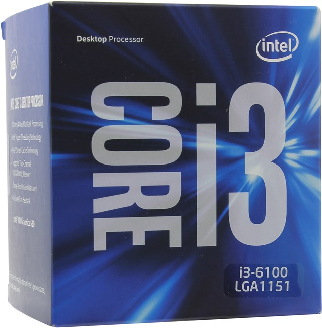 Intel Core i3-6100 (1151, Box)