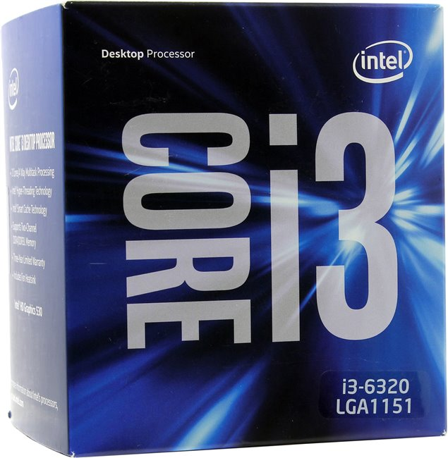 Intel Core i3-6320 (1151, Box)