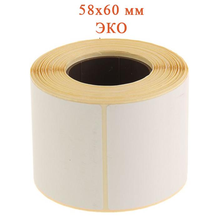 Термоэтикетки ЭКО 58х60 мм (500 шт в рулоне)