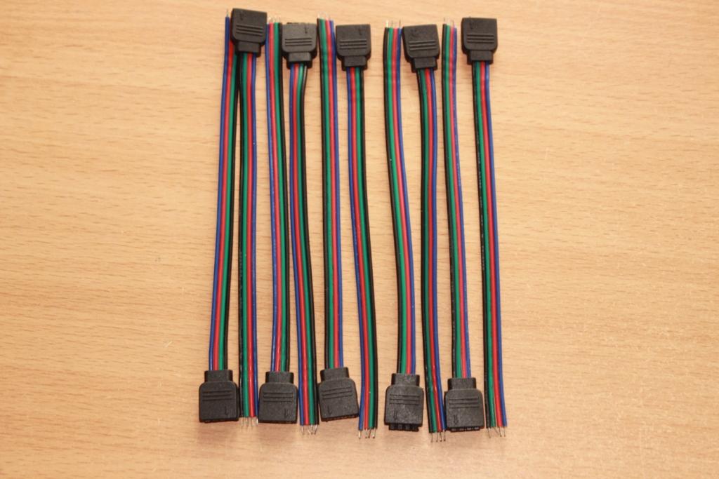 Коннектор светодиодной led RGB ленты 10 см ( 10 шт)