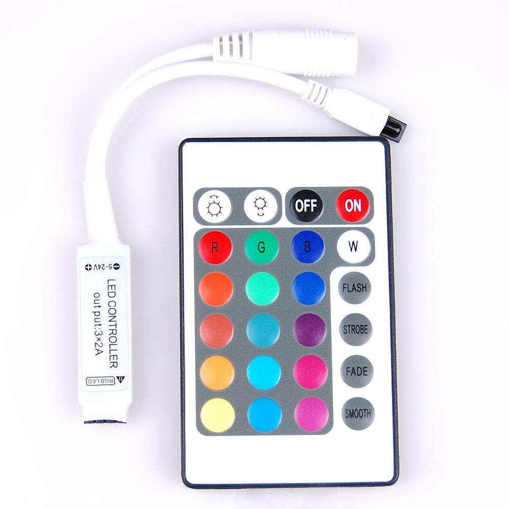Мини контроллер для светодиодной ленты RGB с пультом управления