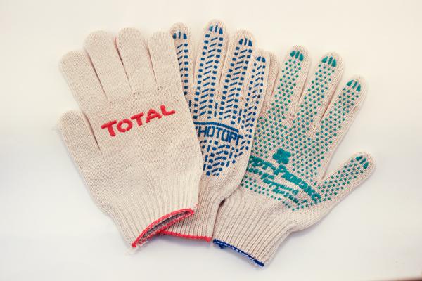 Изготовление перчаток с логотипом организации