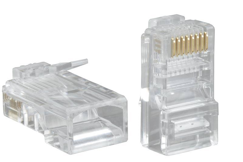 Коннектор соединительный RJ-45 (8P8C) 100 шт в упаковке